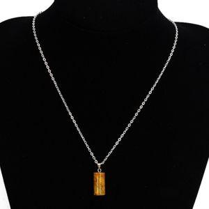 Carnelian Agate Opal Gem Cylinder Pendant Necklace